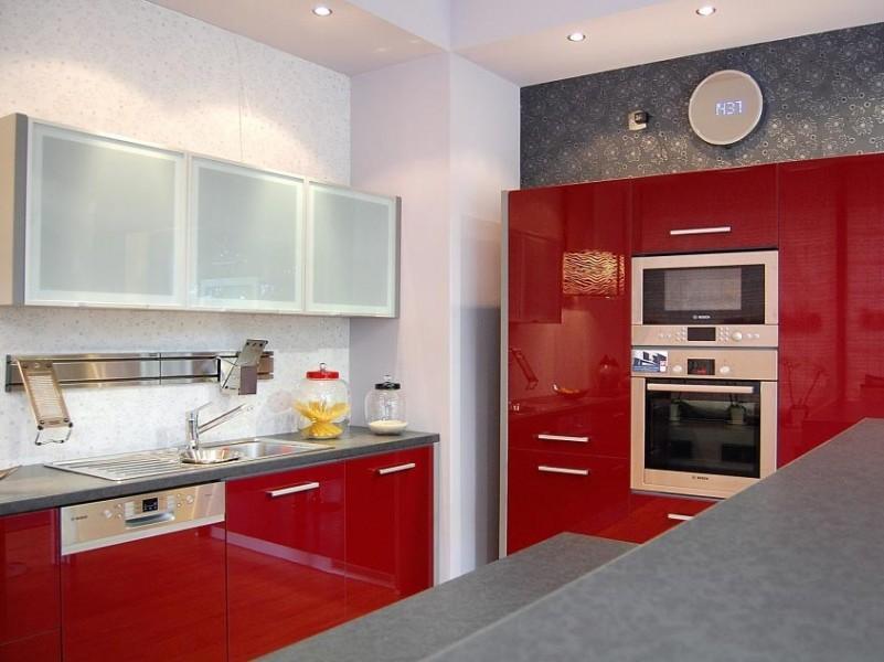 nowoczesna zabudowa w kuchni Manhattan