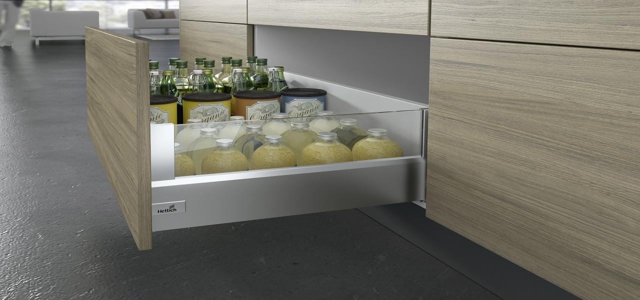 szuflada kochenna, system szuflad marki Hettich